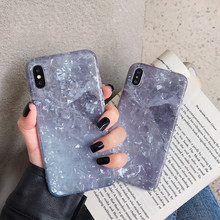 Gradient Colorful Conch Shell Phone Case For iphone XS Max XR X Cover 6 6s 7 8 plus Cases Luxury Fashion Glossy Capas