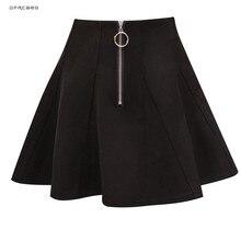 Faldas cortas plisada con cremallera para mujer, minifalda femenina de estilo coreano, a la moda, de estilo Kawaii, 2019