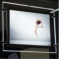 (Набор из 4 единиц) A1 односторонний подсветкой изображение Рамки, подвесной кабель Кристалл edge свет коробка для недвижимости, галерея