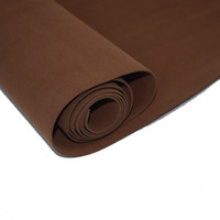 2019 New faux leather fabric Brown PU synthetic leather 1.4 mm thick eco friend Artificial suede microfiber pu leather 50x70cm