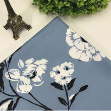 Floral Print Chiffon Fabric Plain Weave Textile DIY Sewing Quilted Womens Dress Trousers Patchwork Material