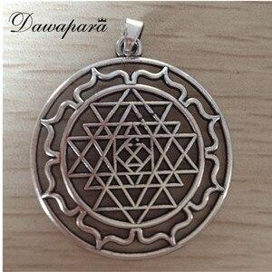Dawapara Mandala CHAKRA 3rd Eye Hindu Amulet Goddess Yoga Sri Yantra From India Jewelry Lotus Flower Of Life Charms For Bracelet
