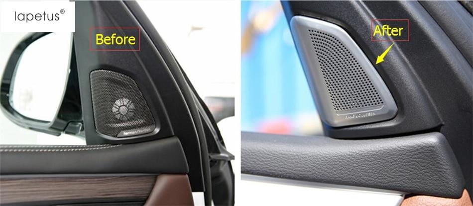 Accessories For BMW X5 F15 2014 - 2017 / X6 F16 2015 - 2018 A Pillar Stereo Speaker Audio Loudspeaker Molding Cover Kit Trim accessories for bmw x5 f15 2014 2016 x6 f16 2014 2017 abs rear armrest box decoration molding cover trim 2 pcs set