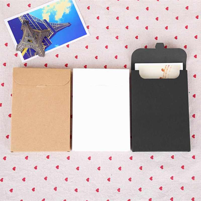 10.8*15.5+1.5cm 20Pcs Gift Greeting Card Postcard Photo Box Kraft Paper Envelope Invitation Card Letter Stationery Packaging Bag