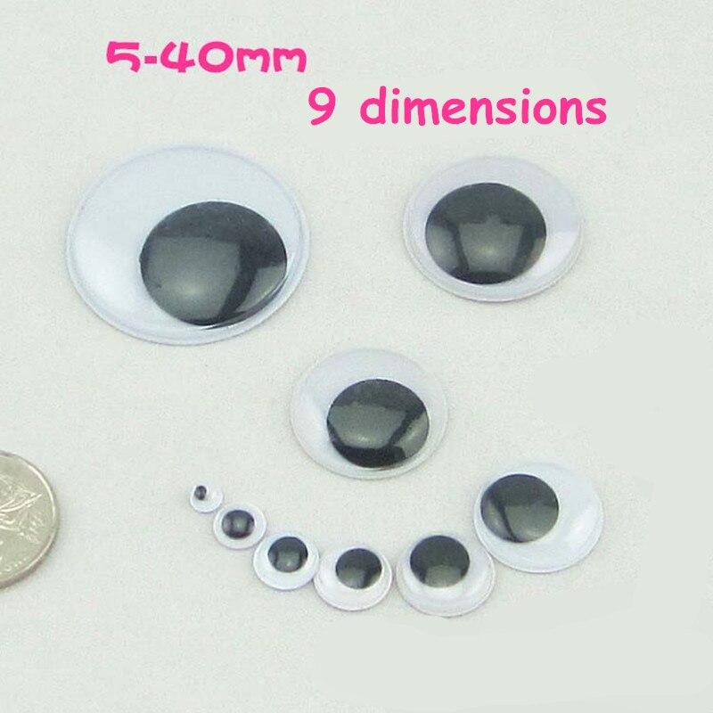 5 Pair Plastic Half Round For Halloween Mask Doll Eyes Fake Mask Eyeballs MF