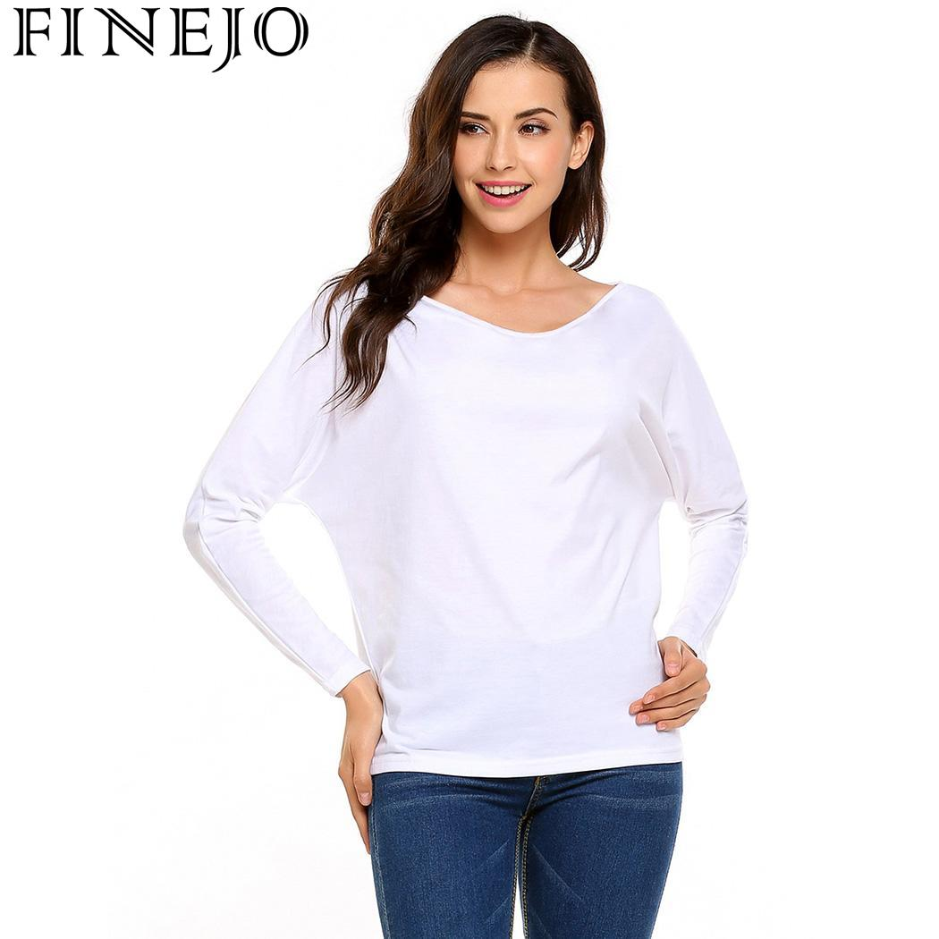 Detail Feedback Questions about FINEJO Loose Camisetas Autumn T Shirt Women  Tops Fashion European Style T Shirt Casual Harajuku Blusa Body Tops Tees  Ropa ... a947995caba3
