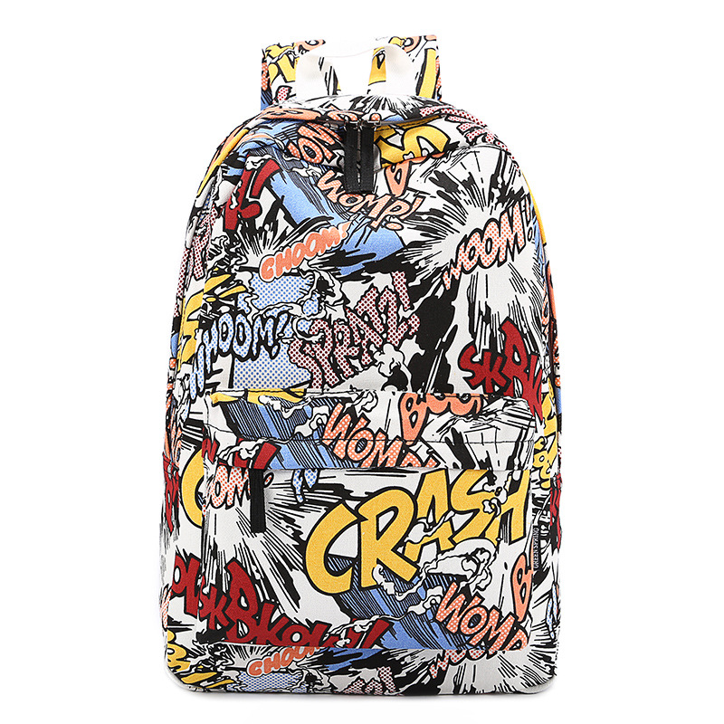 Backpacks Summer Shoulder Bag Canvas Backpack Schoolbag Mochila Graffiti Unisex Rucksack Wholesale