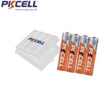 PKCELL NIZN aaa перезаряжаемая батарея 1,6 mwh V 4 шт. и чехол для батареи 1 шт. держатель высокоэффективный для фонарика