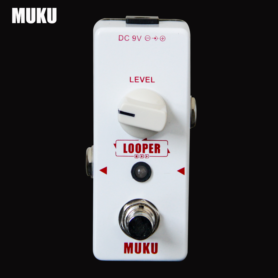 gitár tartozékok gitár pedál MUKU Looper elektromos gitár hatás pedál gitár kiegészítők Könnyű vezérlés
