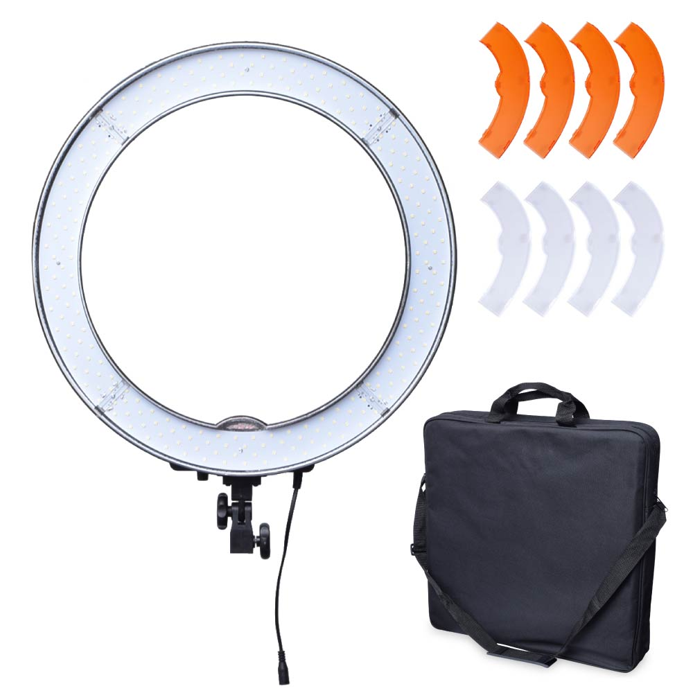 Studio 19 / 48cm 55W 4800LM 5500K Dimmable LED Ring Light Lamp with Color Filter for Video Photo Makeup Beauty Lighting Selfie studio 19 48cm 55w 5500k dimmable led ring light lamp with color filter for video photo makeup beauty selfie lighting ru