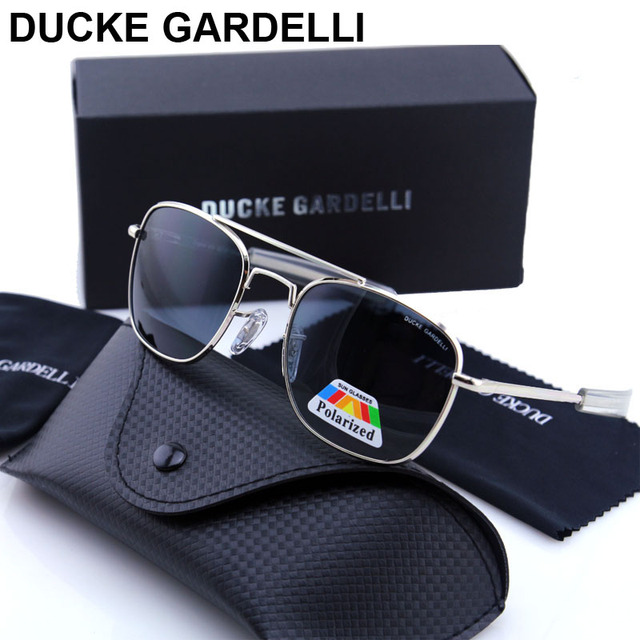 af4f1bb5fe DUCKE GARDELLI Flyer Men Air force military Metal Polarized 57 mm 52 mm  army optical SUNGLASSES