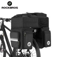 ROCKBROS 3 in 1 Bicycle Rear Rack Bags 48L Cycling Seat Pannier Bag MTB Tail Luggage Trunk Bag Bike Saddle Bag with Rain Cover