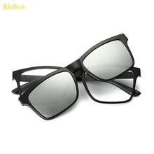 Rectangl スタイルチタン眼鏡磁気クリップ男性のメガネフレームサングラス磁気クリップメガネ近視眼鏡フレーム男性