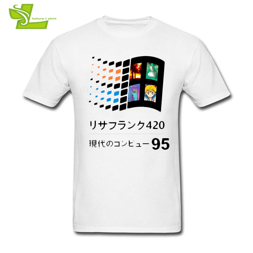 Vaporwave 95 Man   T     Shirt   Fashion Classic Comfortable   T  -  Shirt   Men Short Sleeve O Neck Tshirts Dad New Coming Personality Clothes