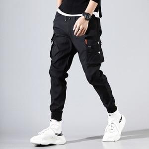 Image 3 - ヒップホップ男性 Pantalones やつ高ストリート Kpop カジュアルカーゴパンツ多くポケットジョギング Modis ストリートズボン原宿