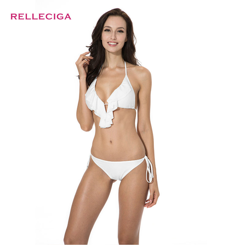 RELLECIGA Womens Ruffle Cheeky Scrunch Bottom with Less Coverage
