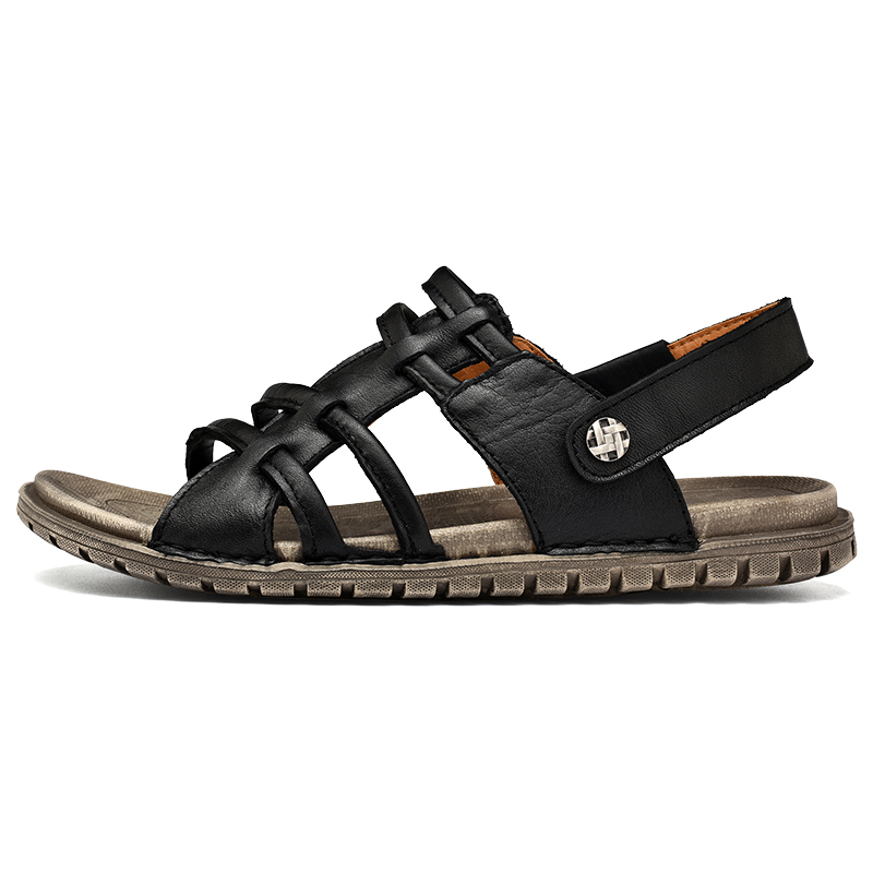 217d63256 SocNoDn Men s Sandals Genuine Leather 2018 Summer Fashion Gladiator Style  Casual Walking Footwear Man Retro Sandals Breathable-in Men s Sandals from  Shoes ...