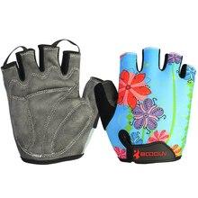 Велоспорт Перчатки Половина Finger Противоударные Дышащие Открытый MTB Дорожный Велосипед Перчатки Спортивные Перчатки для Детей Мужчины Женщины