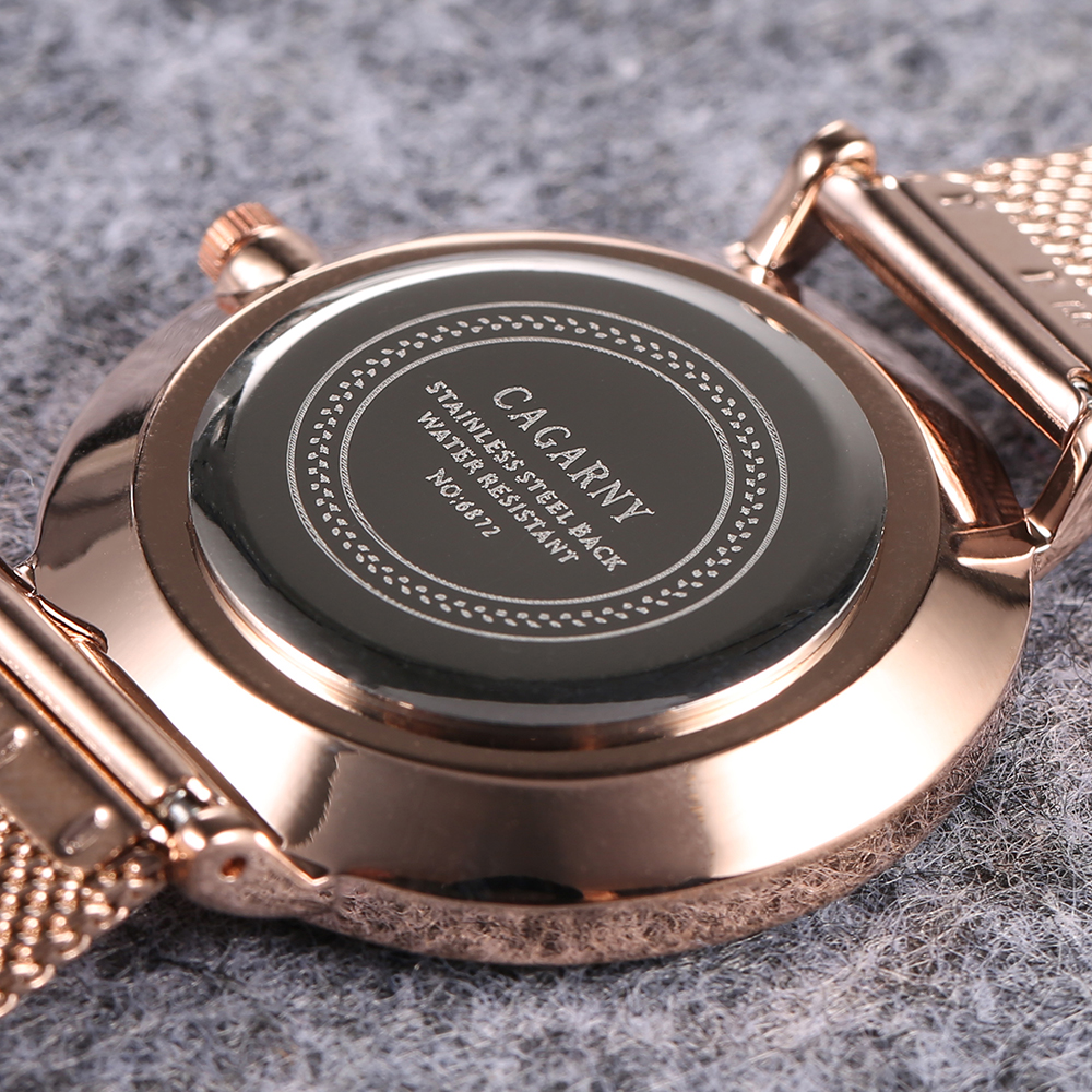 ultra thin quartz watches for women fashion ladies wristwatch drop shipping rose gold steel mesh bracelet watch gifts (7)
