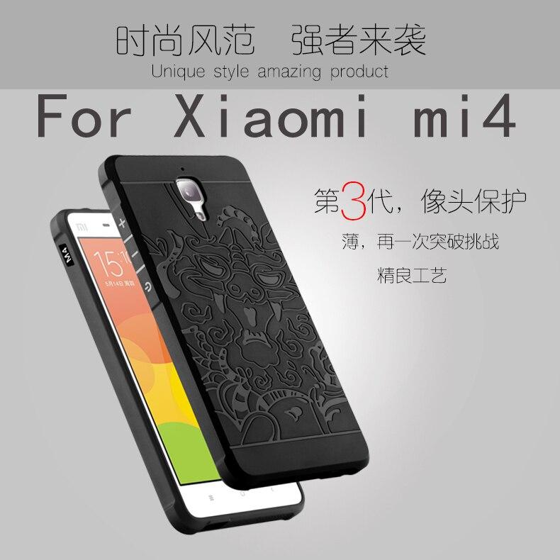 Teléfono de lujo case para xiaomi mi4 mi 4 suave de alta calidad silicio protect