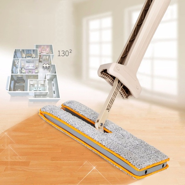 Double Sided Lazy Mop with Self-Wringing Ability – 360 Degrees Flipping Wet & Dry Mop
