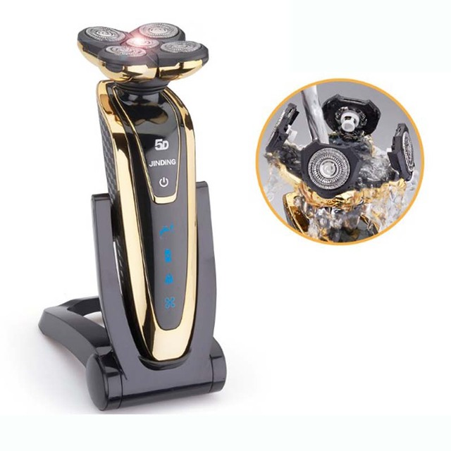2016 Nueva máquina de Afeitar Eléctrica epilator Rotary Recargable Impermeable Lavable cuidado facial barba trimmer 5D Cabezal de CUCHILLAS de AFEITAR de los hombres