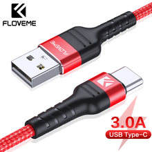 FLOVEME 3A USB Type C Cable for Samsung S10 S10e S9 Mobile Phone Fast Charging Type-C Devices