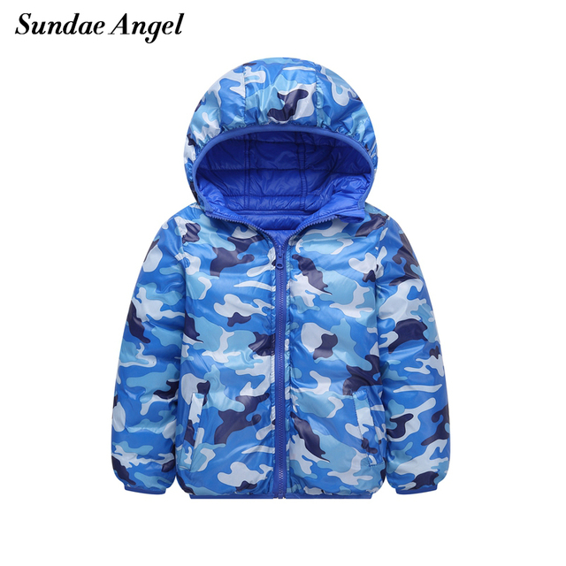 Get Discount Price Sundae Angel Kids Girls Winter Jackets Hooded Thick Boys Outerwear Coats Camouflage Down Parkas Warm Children's Clothes 3-12 Y