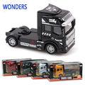 1:50 scale alloy caminhão, Super cabeça caminhão, Pull back alloy modelo carro, Brinquedos para crianças