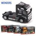 Escala 1:50 aleación camión, carro estupendo cabeza, aleación modelo de coche, juguetes para niños