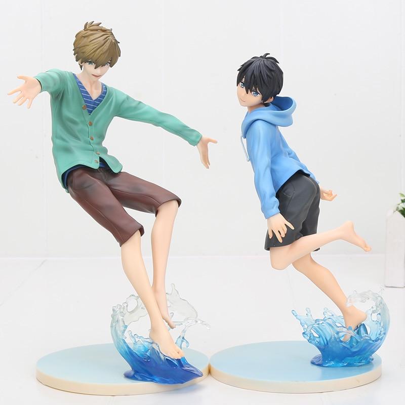 Anime Free! Iwatobi Swim Club Haruka Nanase Makoto Tachiba PVC Action Figure Resin Collection Model Toy