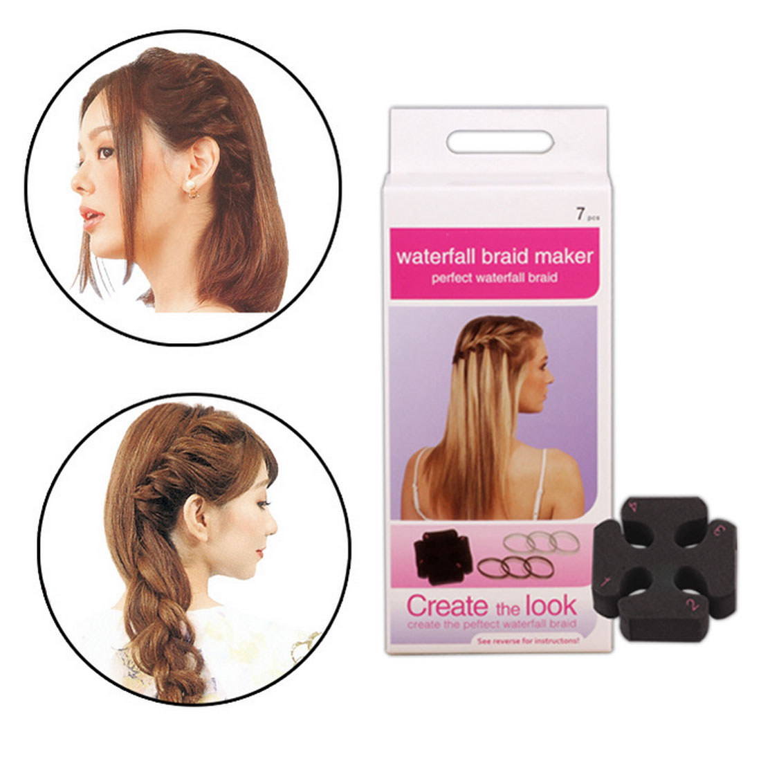 DIY Fast Hair Styling Waterfall Head Twist Styling Hairs Styling Tool Pro Sponge Braider for Home Salon Quick Use