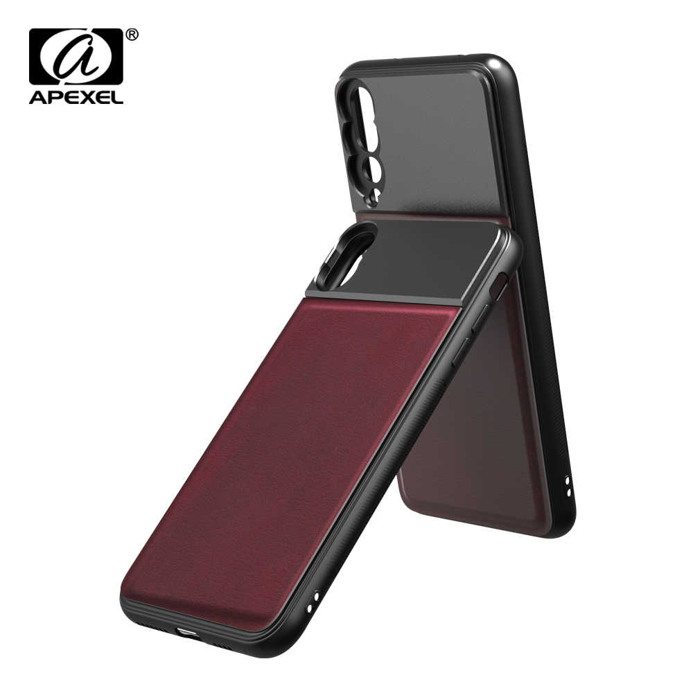 APEXEL High Quality Aluminum alloy+Leather Phone case with 17mm thread for iPhone X XS max Huawei p20 p30 pro for phone lenses