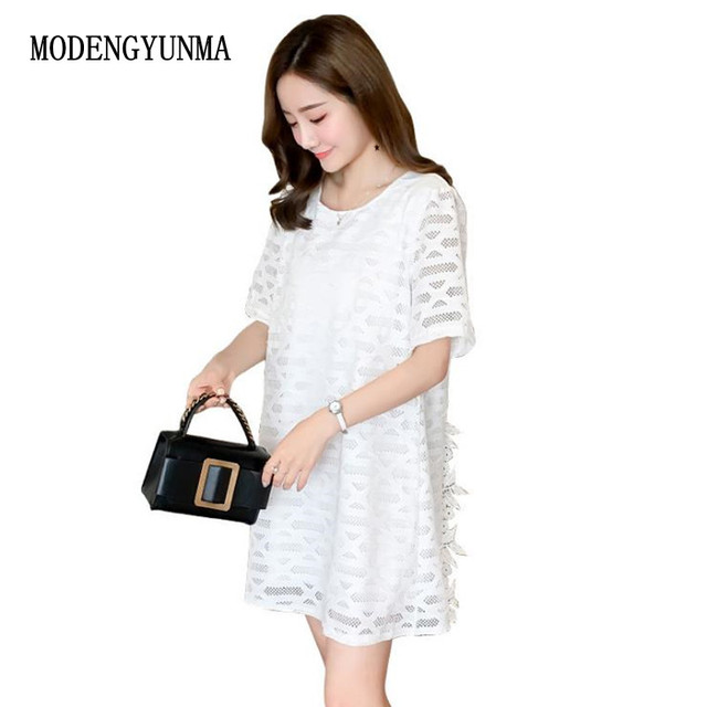 3d141c5c15bdb MODENGYUNMA Pregnant Women Lace Dress Cute Luxury Bow Pregnancy Clothes  Irregular Hem Maternity Dresses 2018 summer dess