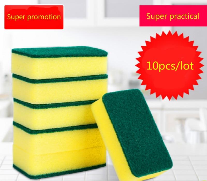 10 Unids de alta densidad esponja cocina esponja limpia frote baño - Bienes para el hogar - foto 1