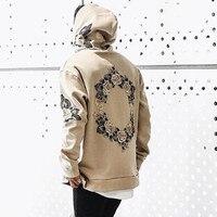 NEUE Mens Floral Gedruckt Hoodies 2018 Herbst Neue Langarm Sweatshirt Street Style Casual Blumen Print Trainingsanzug Schweiß Homme