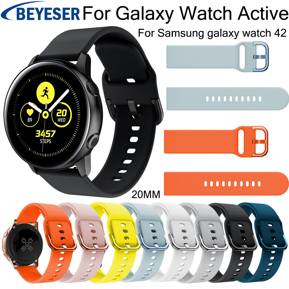20mm Watchband for Samsung Galaxy Watch Active replacement watchstrap for Gear S2 sport classic band for galaxy watch 42mm strap20mm Watchband for Samsung Galaxy Watch Active replacement watchstrap for Gear S2 sport classic band for galaxy watch 42mm strap