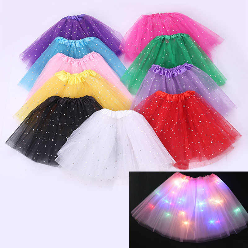 745d80ff7 LED Tutu Children Girl Kids Ballet Costumes Fancy Dress Performance Stage  Dance Birthday Party Gift Glow