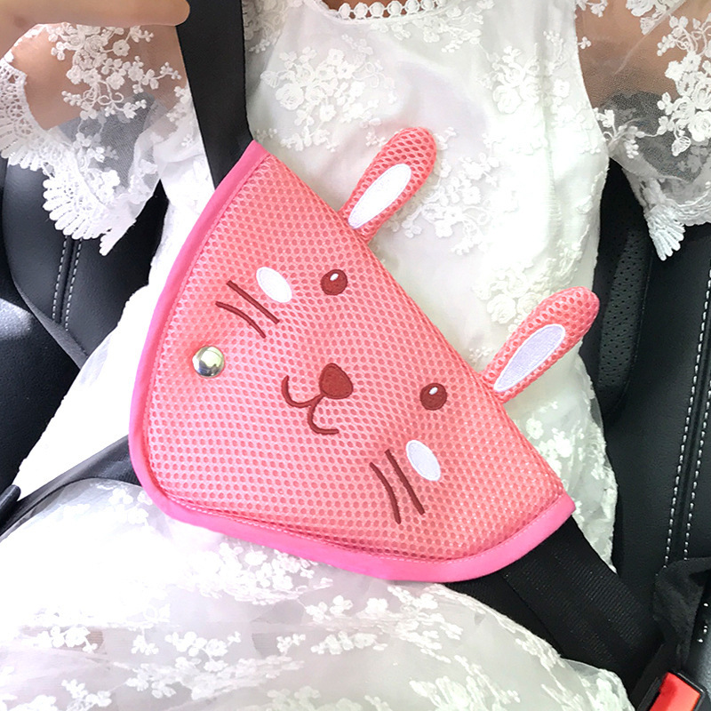 Children Car Seat Belt Protector Adjustment Holder Safety Guard Cartoon Animal Comfortable Protection Pad Cover For Baby Child