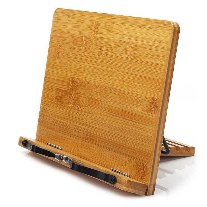 Bandeja de soporte de libro ajustable y Clips de papel de página-escritorio de lectura de libros de cocina soporte de libro ligero resistente portátil-Libros de Texto libro St