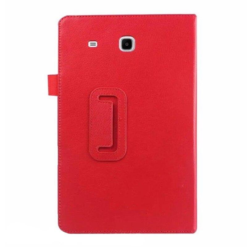 For Samsung Galaxy Tab E 9.6 Folio Case - Slim Fit Premium Vegan Leather Cover for Samsung Tab E 9.6-Inch Tablet, Red футболка wearcraft premium slim fit printio шварц