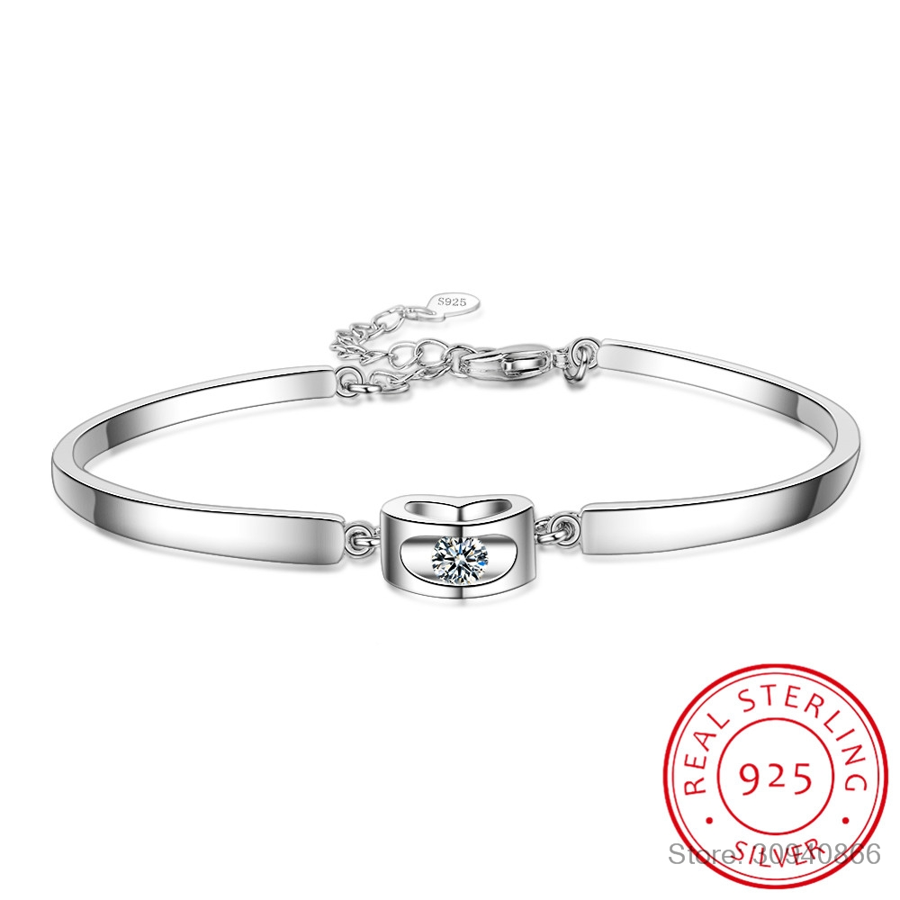 New Hot 925 Sterling Silver Charm Bracelets Trendy Design CZ Cubic Zirconia Stone Best Gift For Women Girls Party Appointment