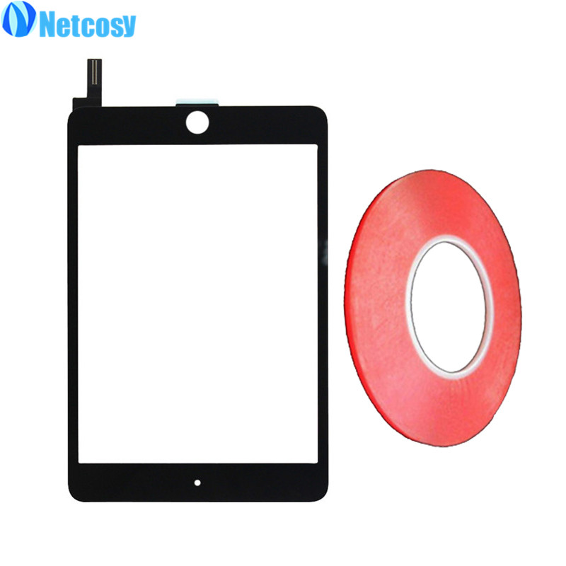 Netcosy For ipad mini 4 Touch Screen Digitizer Panel Glass For ipad A1538 A1550 TouchScreen & 2mm Width Double side Clear Tape