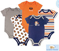 Amigos Luvable 5 pçs/lote Romper Do Bebê Pendurado Azul Corpo de Manga Curta Bebê Recém-nascido Infantil Menino/Menina Roupas de Bebê roupas