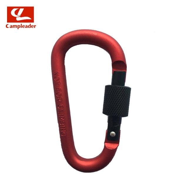 Kit Quickdraws Camping Keyring D Carabiner D-Ring Key Chain Spring Snap Clips
