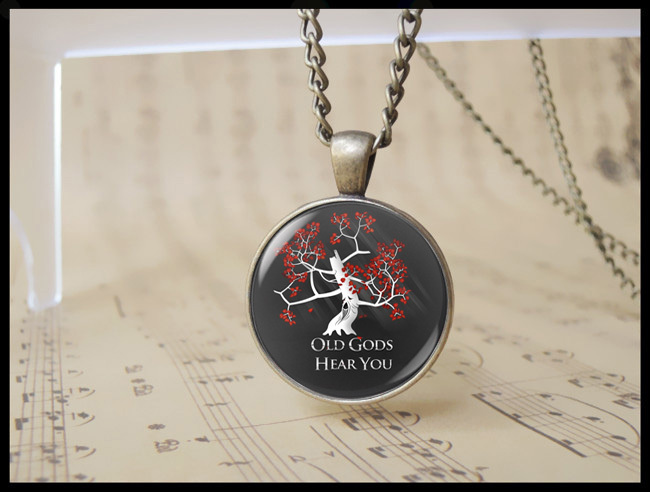 Vintage House Sigil Badge Game Of Thrones Necklace Old Gods Hear You