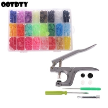 360pcs Plastic Resin T5 12mm Snaps Button Fasteners Press Stud Poppers With Pressure Plier Tool Set Kit