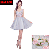 New Cheap Homecoming Dresses 2019 Embroidery Beading Lace Corset Short Prom Dress Cute 8th Grade Graduation Dresses Junior Prom