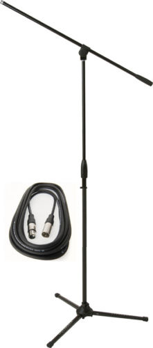 Musicians Tripod Mic Stand with 25FT Mic Cable