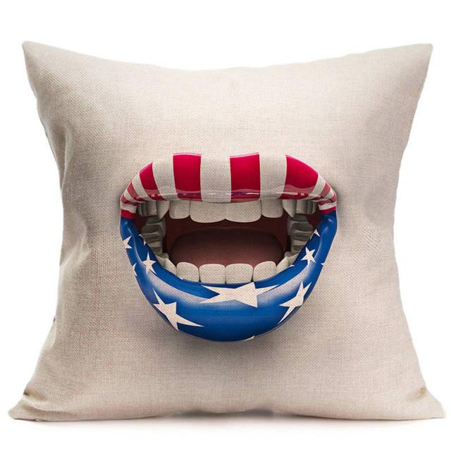 Fashion Throw Pillows Decorative Cushion Case Sofa Car Vintage Extraordinary American Flag Decorative Throw Pillow